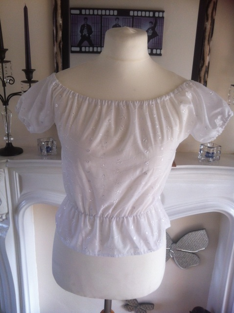 Store > Dolls > Tops > White Broderie Anglaise Gypsy Top